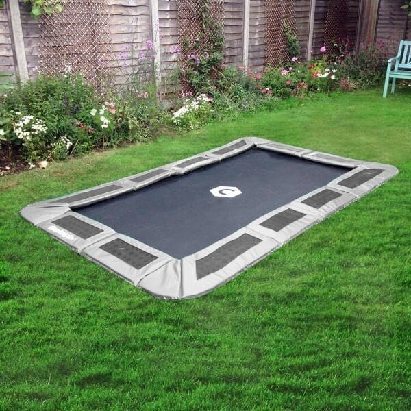 10ft x 6ft rectangular ground trampoline