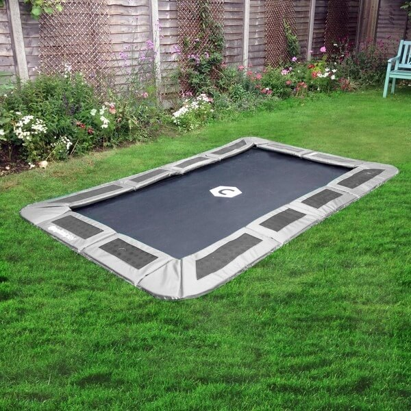 10ft x 6ft rectangular ground trampoline
