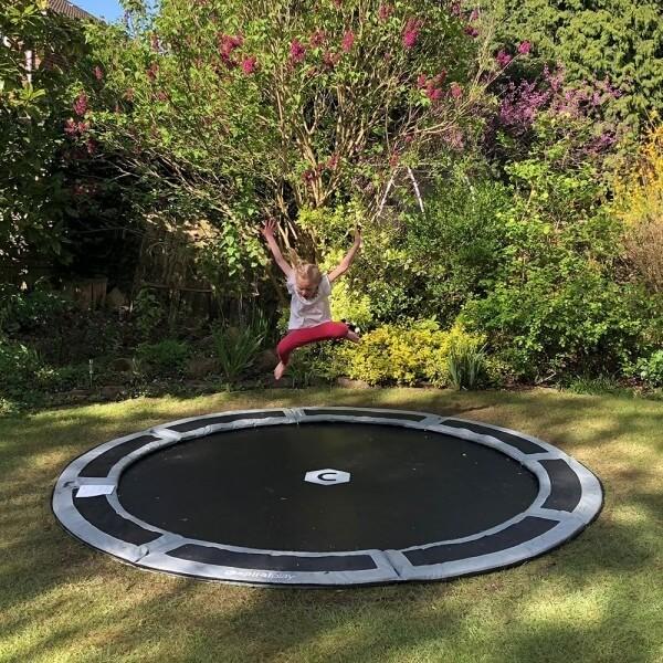 round 10ft in ground trampoline