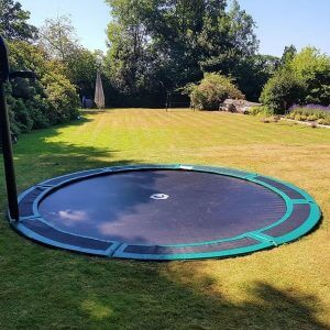 round 14ft ground trampoline