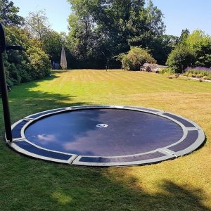 round 14ft in ground trampoline