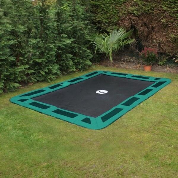 11ft x 8ft rectangular in ground trampoline