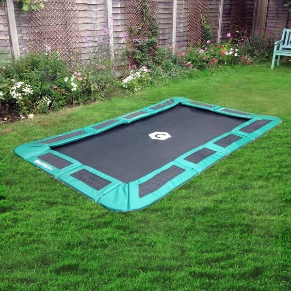 10ft x 6ft rectangular in ground trampoline