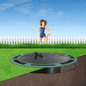 8ft round ground trampoline