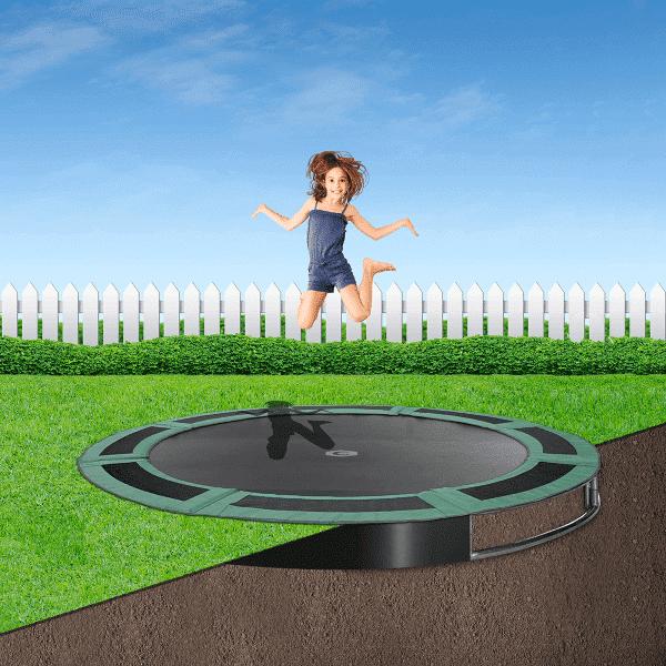 8ft round ground trampoline